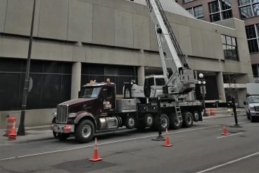 National Crane Boom Truck for Rent