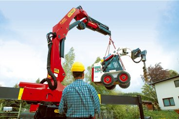 Palfinger Knuckle Boom Crane in Action