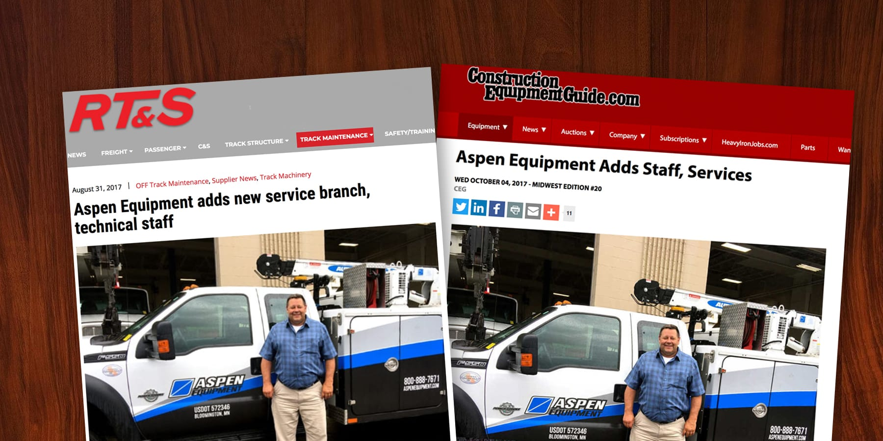 Aspen Equipment adds service and technical staff in Davenport, Iowa