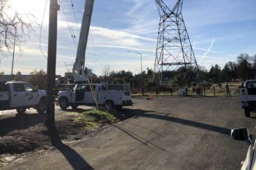 Bronto aerial SI197HDT in utility work