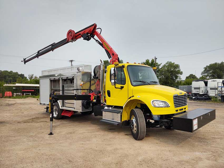 Palfinger PK26002EH for delivery of construction materials