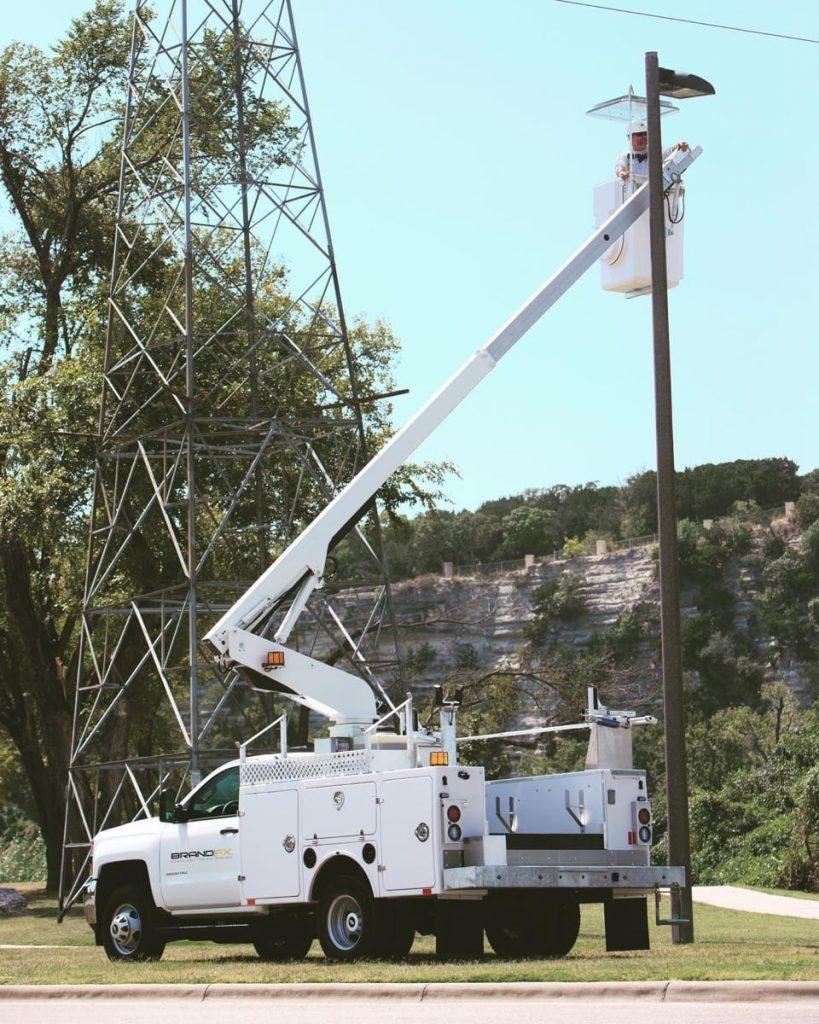 BrandFX municipal service crane truck
