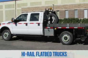 railroad high rail railroad flatbed trucks
