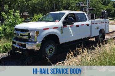 railroad high rail railroad service body trucks