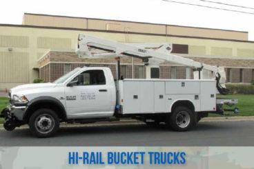 railraod high rail railroad bucket trucks