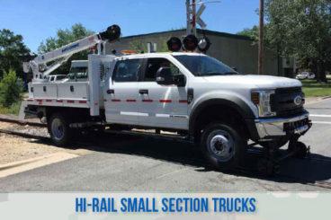 railroad high rail railroad small section trucks
