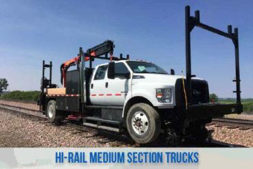 railroad high rail railroad medium section trucks