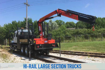 railroad high rail railroad large section trucks