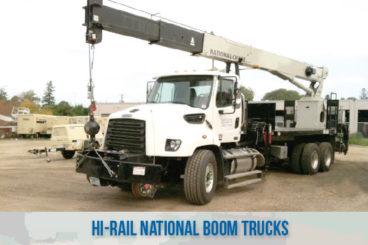 railroad high rail railroad boom trucks