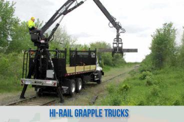 railroad high rail railroad grapple trucks