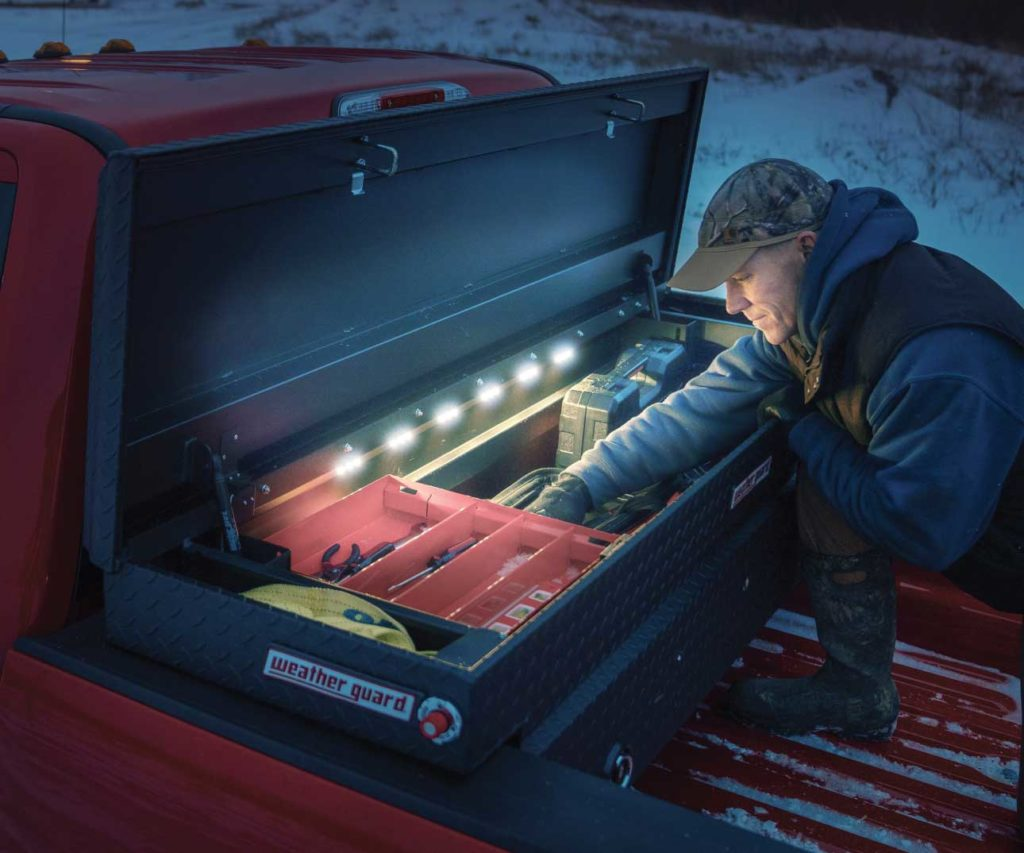 Weather Guard lighted storage tool box