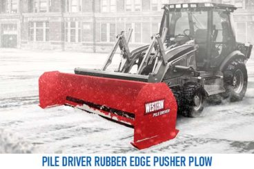Western Pile Driver Rubber Edge Plow