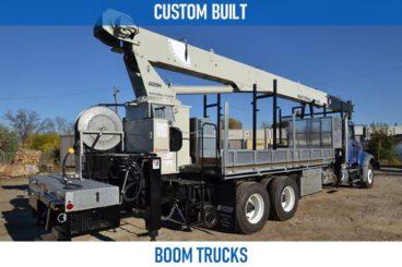 Railroad custom built boom trucks
