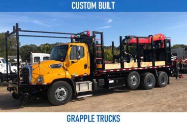 Railroad custom built grapple trucks