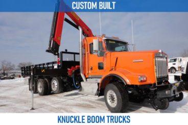 Railroad custom built knuckle boom trucks