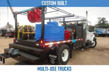 Railroad custom built multi use trucks