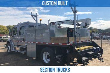Railroad custom built section trucks