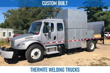 Railroad custom built thermite welding trucks