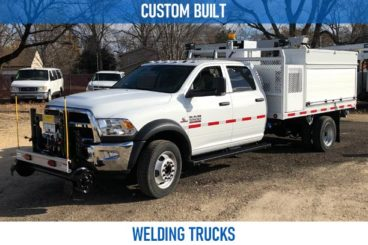Railroad custom built welding trucks