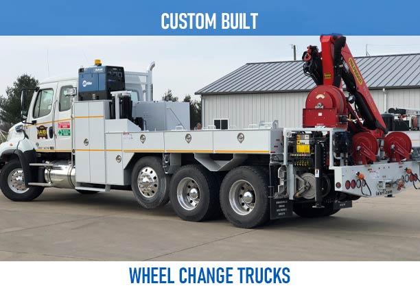 Railroad custom built wheel change trucks