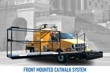 front mounted catwalk system vocational truck