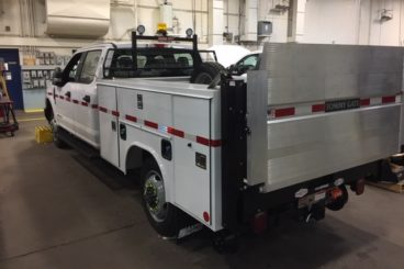 Purposeb-built Ford F-350 railroad signal maintainer service truck