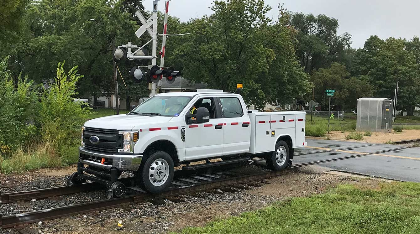 Purpose-built Ford F-350 signal maintainer service truck pickup