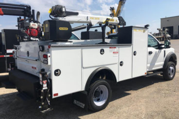 Purpose-built Ford-F550 small section rail track maintenance truck