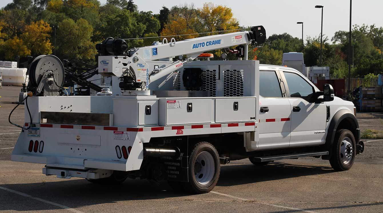 Purpose-built Ford F-550 small section rail maintenance truck