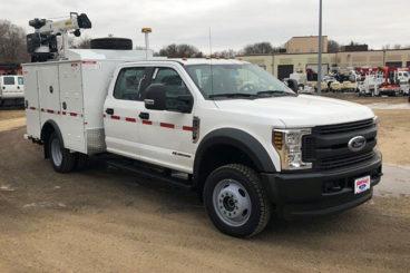 Purpose-built Ford F-550 railroad welding truck