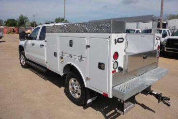 BrandFX fiberglass service truck body with accessories