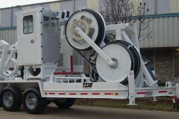 TSE BWPT 120-60 cable puller/tensioner with air conditioned operator cab