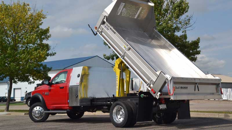 Rugby 12 ft dumping landscaper body with tarp and side access pallet door