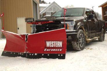 Western pickup-mounted V-plow