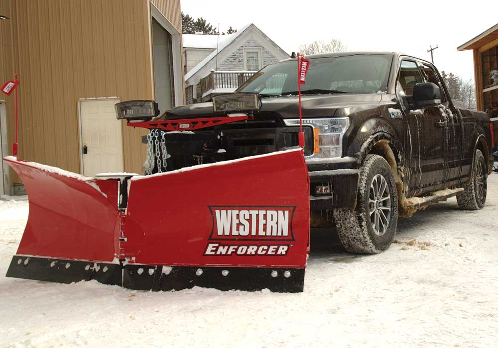 HD Pro Plus straight plow and stainless steel V-box spreader