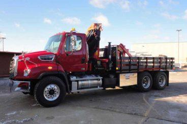 Palfinger PK 22002 EH material hauling truck