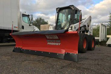 Western multi-position Prodigy skidsteer snow plow