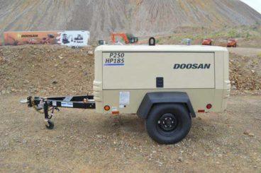 Doosan dual pressure mining air compressor. 100 PSI @ 250 CFM / 150 PSI @ 185 CFM