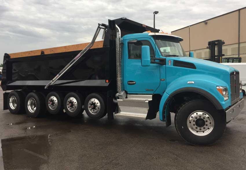 Bibeau BFL 19' Hardox steel dump truck body on quad axle chassis