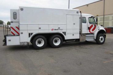 Reading tandem axle aluminum enclosed utility body purpose-built for utility