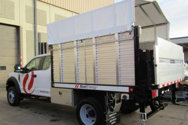 Scott/Tafco steel bed with aluminum drop-in sides, liftgate and custom canopy system