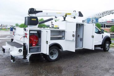 Palfinger PAL Pro mechanic truck with service crane