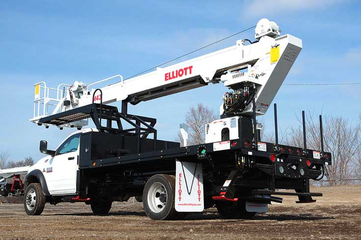 Elliott H70 front-mount material handling aerial