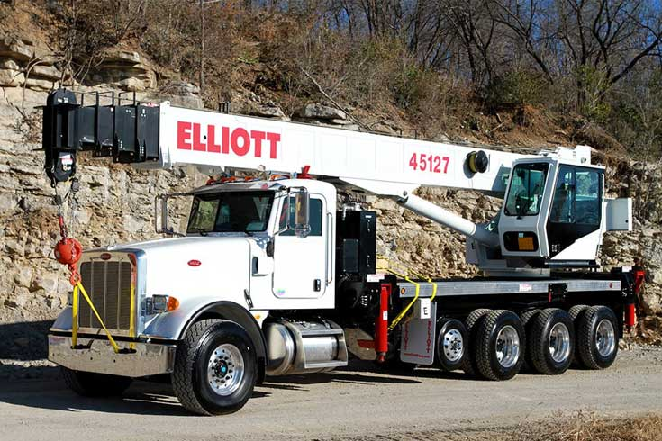 National NBT60L 60 ton boom truck with 151 ft main boom