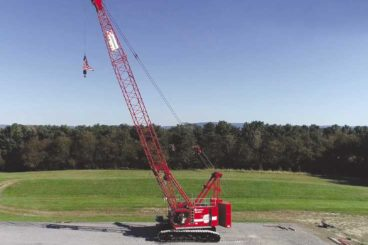Manitowoc MLC100-1 lattice crawler crane, 110 tons, up to 200 ft main boom