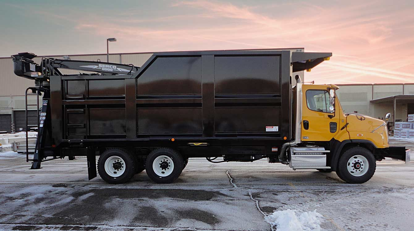24 ft Aspen Equipment fabricated non-dumping forestry truck body, Hardox AR400 construction